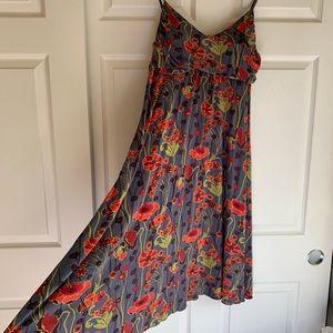 Anthropologie mid length floral dress
